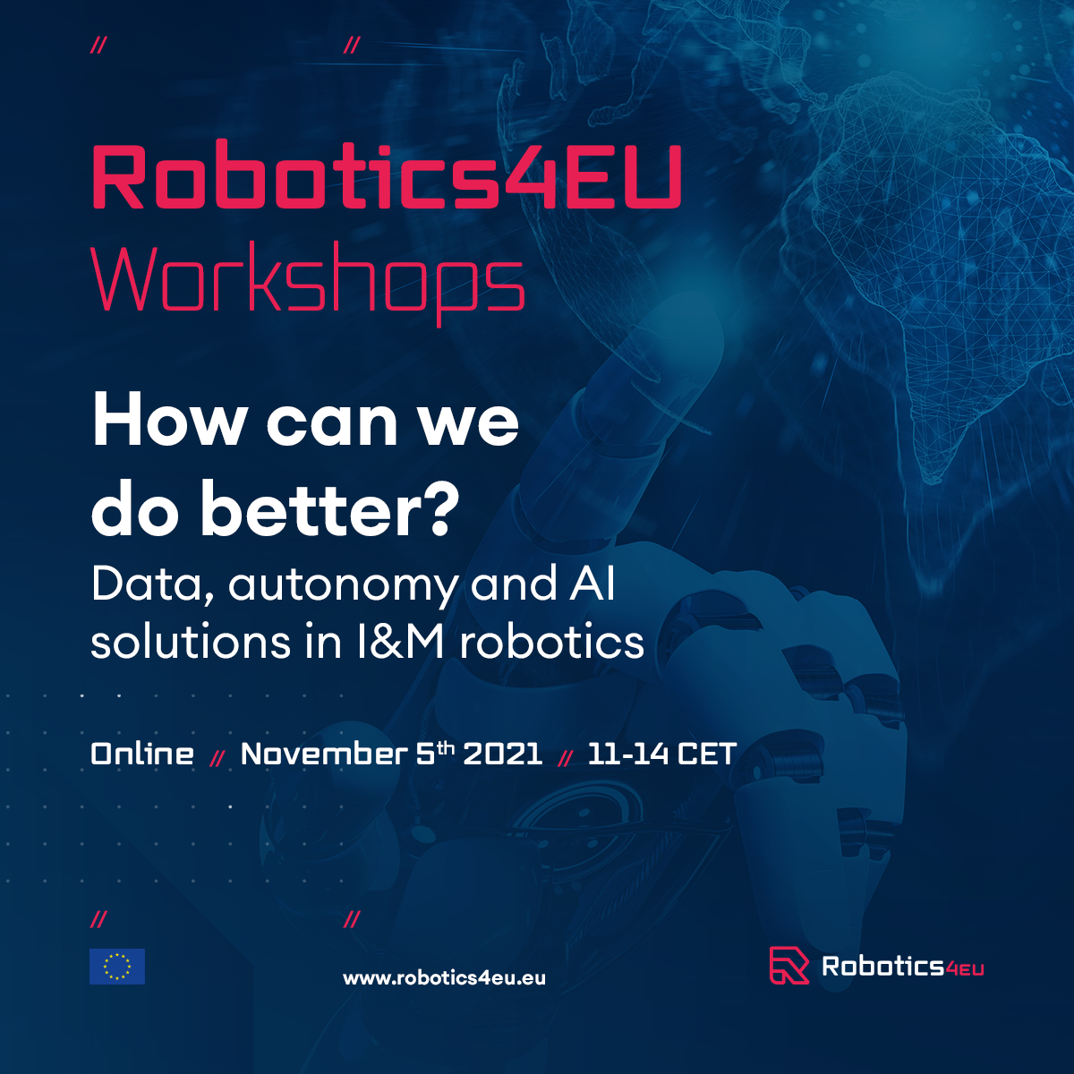 Workshop   How can we do better? Data, autonomy and AI solutions in I&M robotics